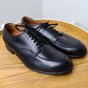Alden Black Leather Split Toe Derby Shoe
